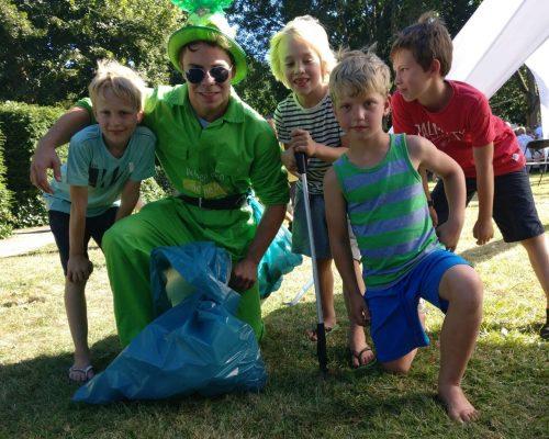 Foto Groene Mug met kinderen